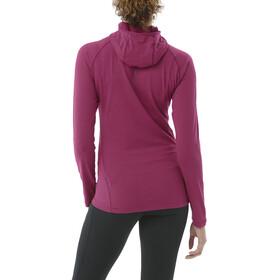 asics LS Hoodie - Camiseta manga larga running Mujer - violeta